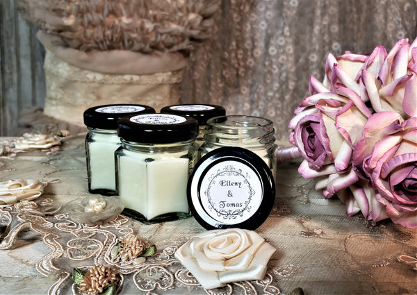 Custom Hex Jar Candles - Special Label