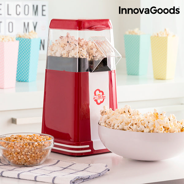 InnovaGoods Hot & Salty Times Heißluft Popcornmaschine 1200 W  Rot