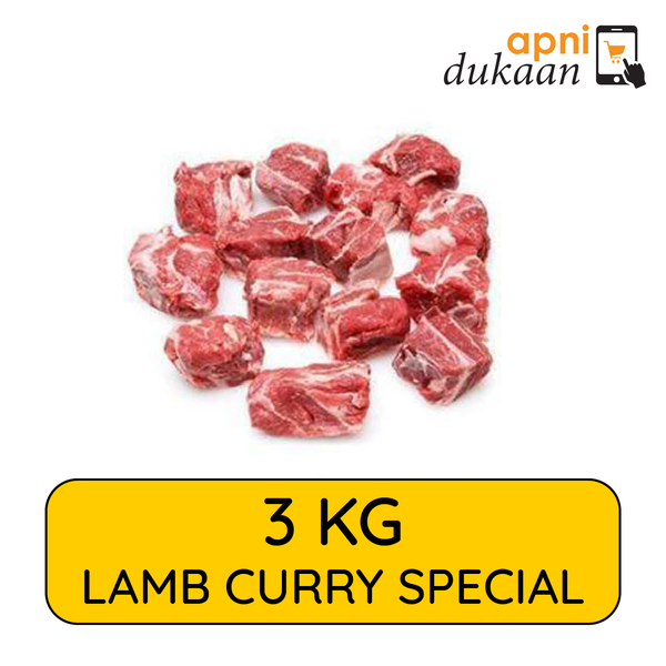 Lamb Curry Pieces 3kg - Special - Apni Dukaan