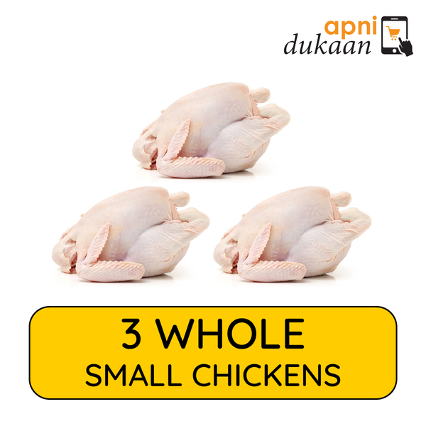 3 Whole Chickens Small - Special - Apni Dukaan