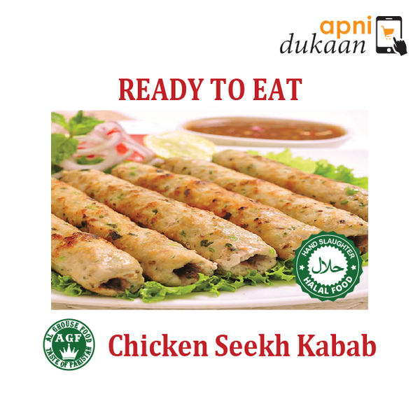 AGF Chicken Seekh Kabab 1 Pack - Ready To Eat - Apni Dukaan