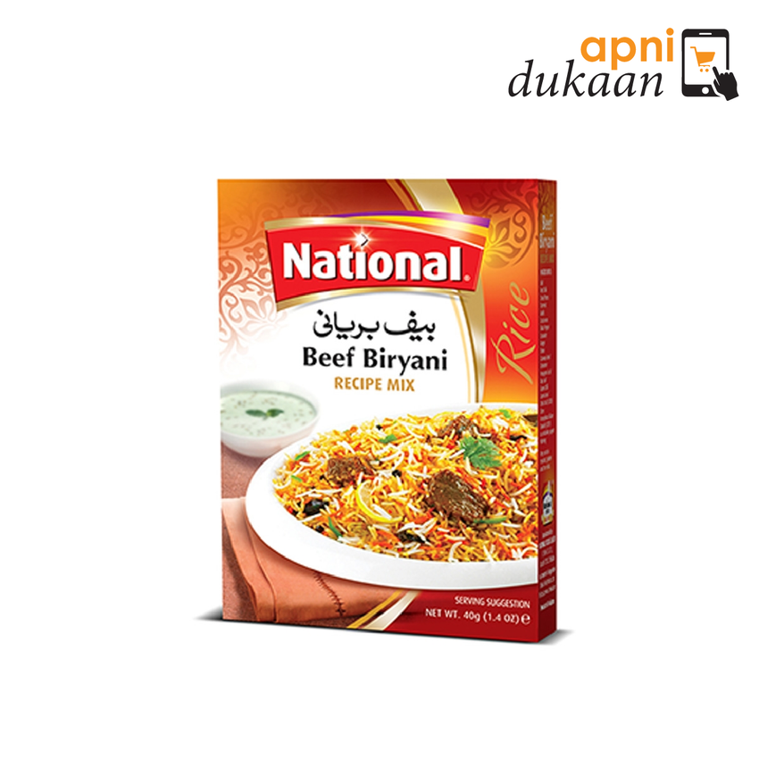 National Beef Biryani Mix 40g - Apni Dukaan