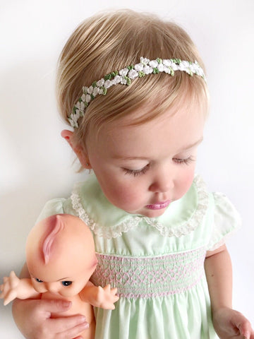 Flower Girl Headband, Flower Girl Crown, Baby Flower Crown, Flower Girl Hair Accessories