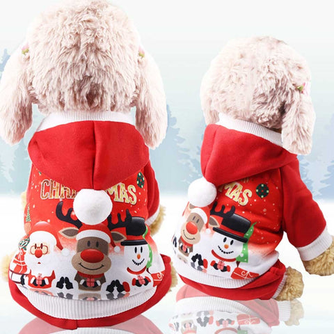 Dog clothes dog Christmas pullover Sweatshirt puppy Teddy head hoodie dog clothes winter warm pet dog jacket small medium dog