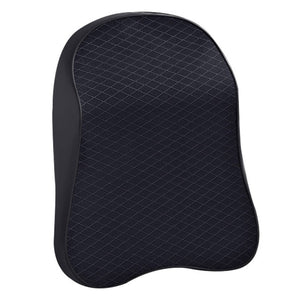 3D Memory Foam Car Neck Pillow PU Leather Car Pillow Waist Rest Pillow Seat Back Rest Lumbar Cushion For Car Accessories