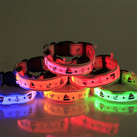 Pet Dog Glowing Collar USB Charging Night Safety Light Necklace Anti-Lost Flashing Collars for Home Pets Cat Puppy Safety