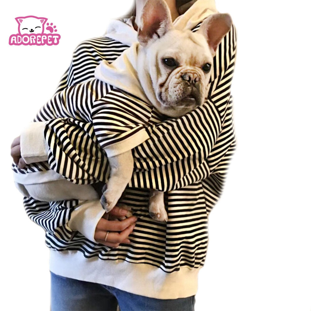 Family Clothes For Dog Small Big Large Dog Clothes Coat Jacket Strip Dog Hoodie Shirt Adult Hoodie Shirt Dog Pajamas clothing