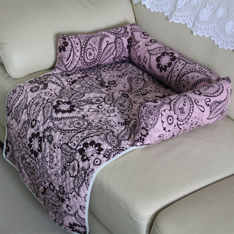 Pet Beds Sleep Warm Soft Sofas Puppy Blanket Chair Pad Floral Print Multifunction Dog Cat Mats Pet Car Seat Cover Sofa Mats
