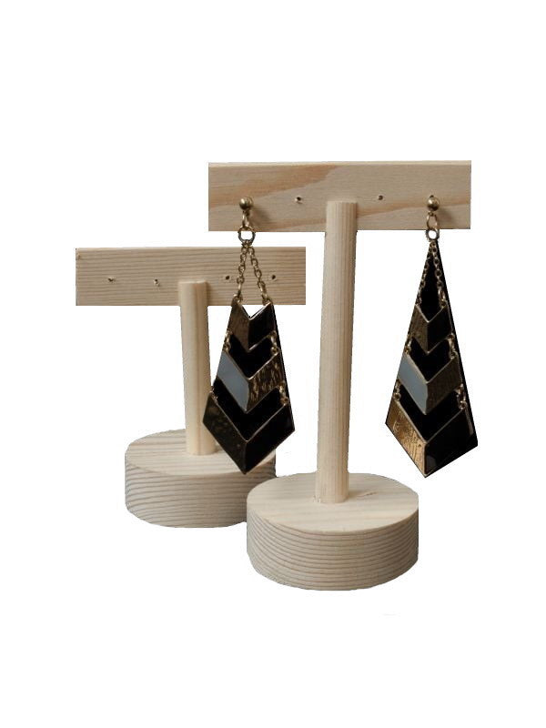 Wooden Earring Display (Set of 2)