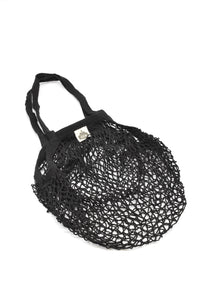 String Shopping Tote Black