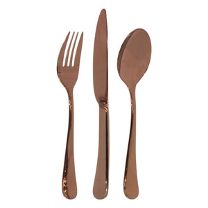 Rose Gold Cutlery Set 3pcs