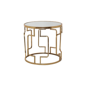 Geometric Gold Side Table