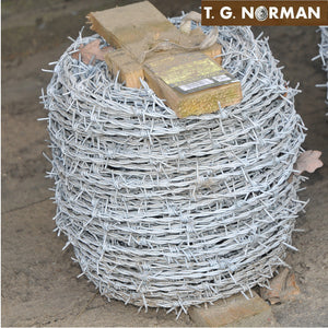 Galvanized Barbed Wire – 50 metres