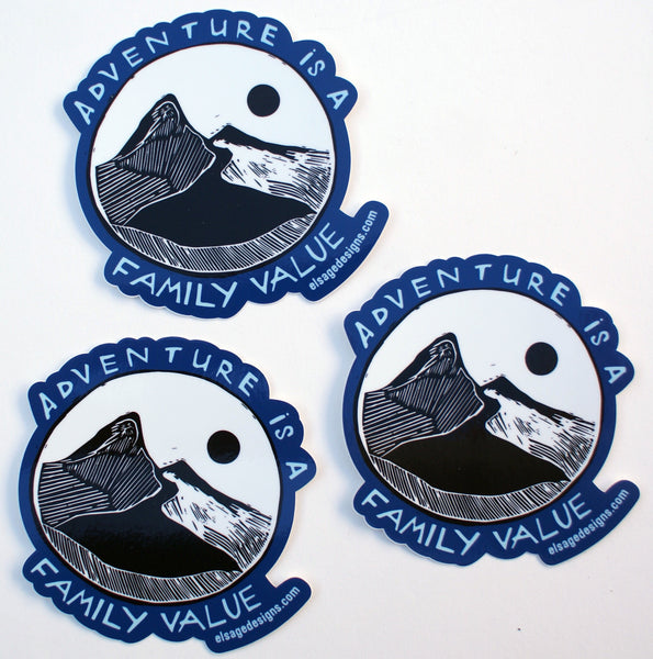 Adventure is a Family Value Sticker