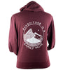 Adventure is a Family Value French Terry Unisex Zip Hoodie in Red Wine