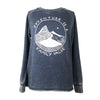 Adventure is a Family Value Women's Burnout Crewneck Sweatshirt in Heather Navy