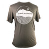 Believe in Mountains Unisex Tee in Ash Triblend