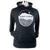 Believe in Mountains Unisex Midweight Hoodie in Charcoal