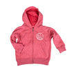 Be Brave Kid's Zip Hoodie in Watermelon