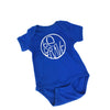 Be Brave Baby Baby One Piece in Royal Blue