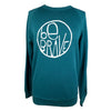 Be Brave Unisex Terry Crewneck in Deep Teal