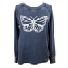 Butterfly Women's Burnout Crewneck Sweatshirt