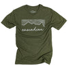 Cascadian Unisex Triblend Tee in Olive Green