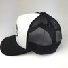 Ocean Dreams City Trucker Hat in black and white