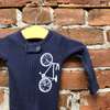 Bike Baby One Piece  Footed Sleeper
