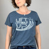 Lift Others Up Women's Tri-Blend Tee in Indigo (Relaxed Fit)