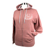 Lift Others Up Unisex Midweight Fleece Zip Hoodie in Dusty Rose