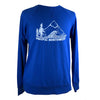 Pacific Northwest Unisex French Terry Crewneck in Royal Blue