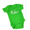 Pacific Northwest Baby One Piece in Bright Green