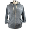 Pacific Northwest Heather French Terry Unisex Zip Hoodie in Grey