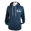 Pacific Northwest Midweight Fleece Zip Hoodie in Sea Blue