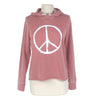 Peace Women's Hoodie in Burnout Rose