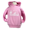 Pacific Northwest Kid's Pullover Hoodie in Baby Pink