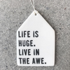 Daily Reminder Themed Porcelain Wall Tag / Ornament / Wall Hanging by mb art studios