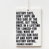 Inspiration Themed Porcelain Wall Tag / Ornament / Wall Hanging by mb art studios