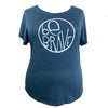 Be Brave Women's Tri-Blend Tee in Indigo Blue (Relaxed Fit)