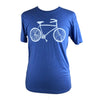 Bike Unisex Tee in Painter's Blue