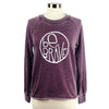 Be Brave Women's Burnout Crewneck Sweatshirt in Blackberry