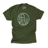 Be Brave Unisex Triblend Tee in Olive
