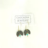 Moon Drop Hammered Metal Earrings by Cascadia Jewelry