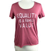 Equality is a Family Value Women's Raw Hem Tee