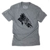 Grow Your Own Food Unisex Triblend Tee in Grey