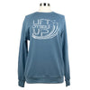 Lift Others Up Unisex Terry Crewneck in Washed Denim