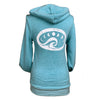 Moon Wave Unisex Eco Fleece Zip in Aqua