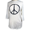 Peace Sign Women's 3/4 Sleeve Tee in White