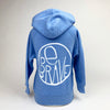 Be Brave Toddler Hoodies in Light Sky Blue